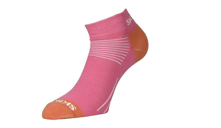 Nízké vlněné ponožky Mini - růžová