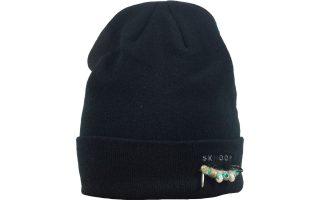 Zimní pletená čepice Agda - black
