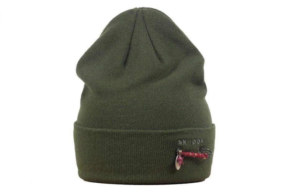 Zimní pletená čepice Agda - olive