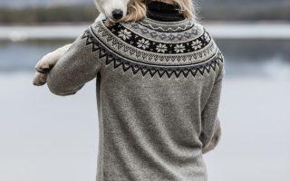 Pletená šatovka Celine - greymelange