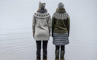 Pletený svetr Scandinavian a tunika Celine