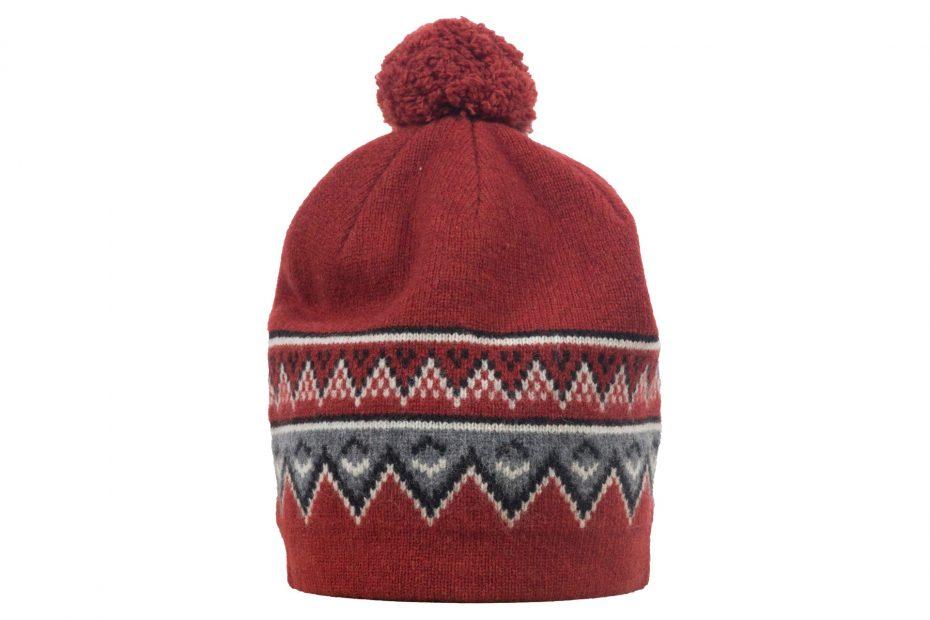 Vlněná čepice Scandinavian - brickred