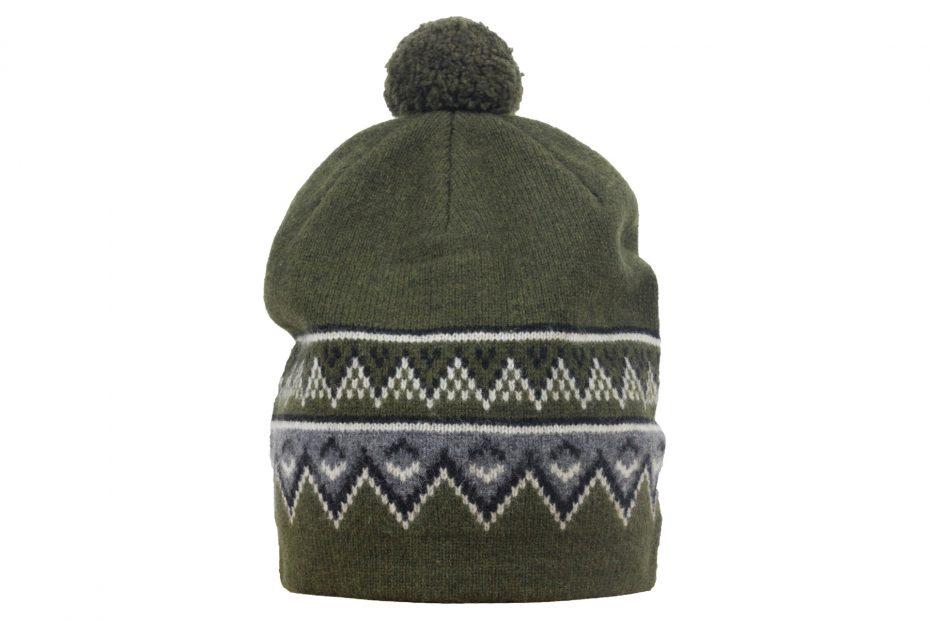 Vlněná čepice Scandinavian - olive