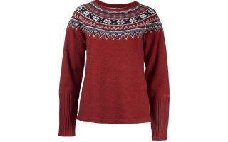 Vlněný svetr Scandinavia - brickred