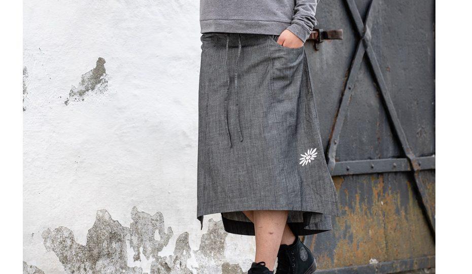 Letní dlouhá sukně Linnea - black