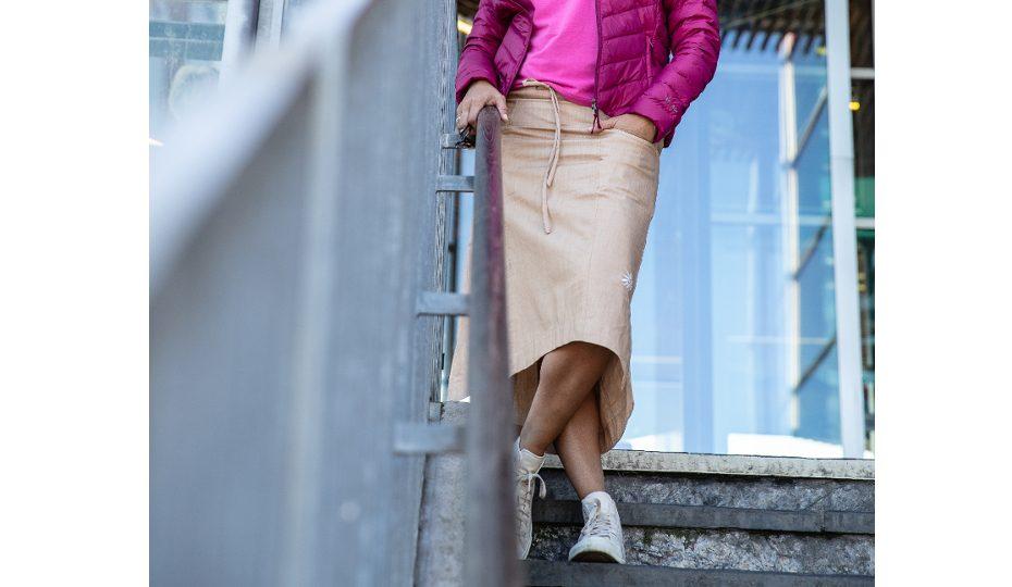 Funkční sukně s bambusem Linnea - khaki