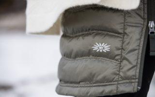 Detail zimní sukně Short Down - olive