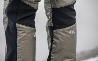 Detail zimní zateplené kalhoty Aluu - olive