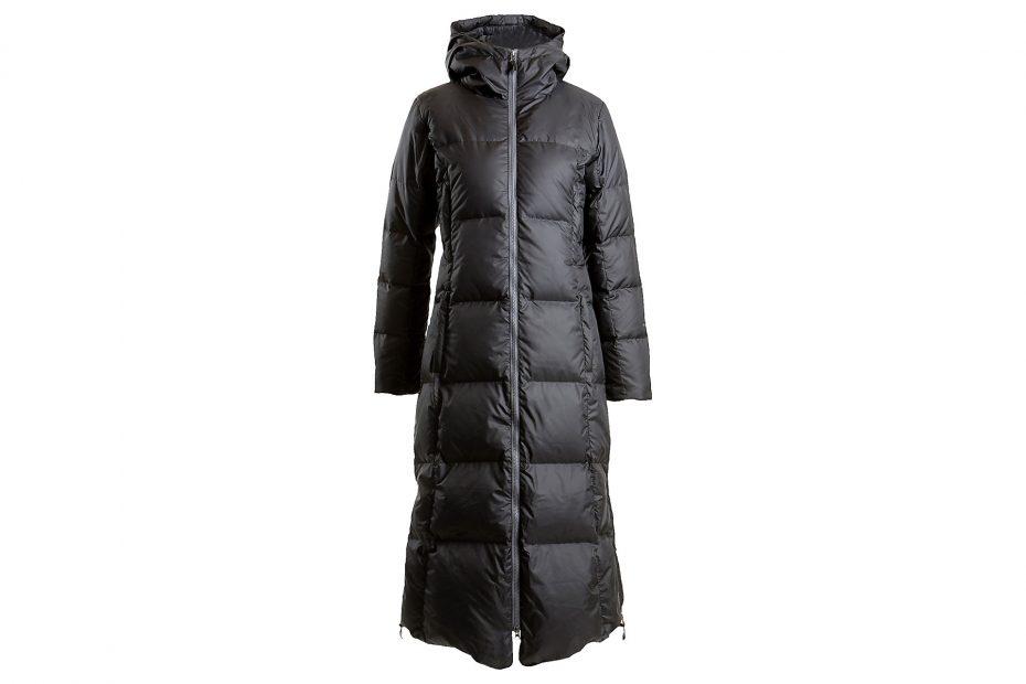 Dlouhý péřový kabát Hella