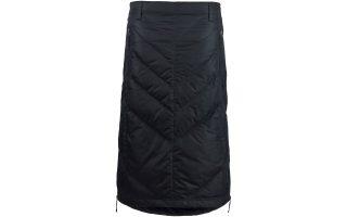 Zimní péřová sukně pod kolena Maud - black