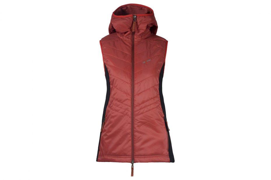Zimní vesta Mona - brickred