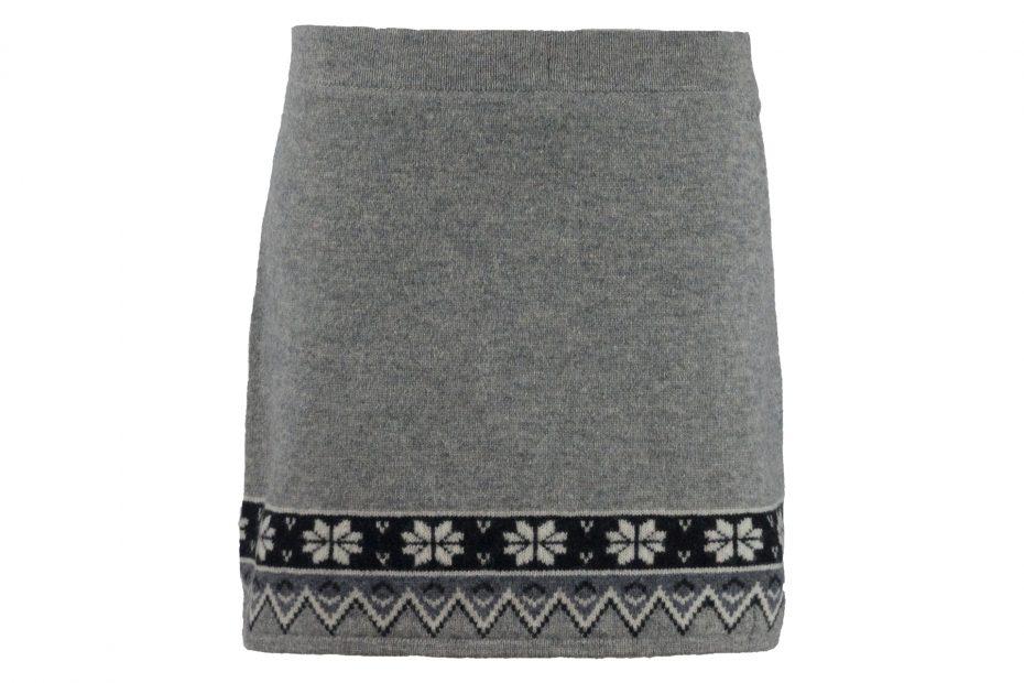 Zimní vlněná sukně Scandinavian - greymelange