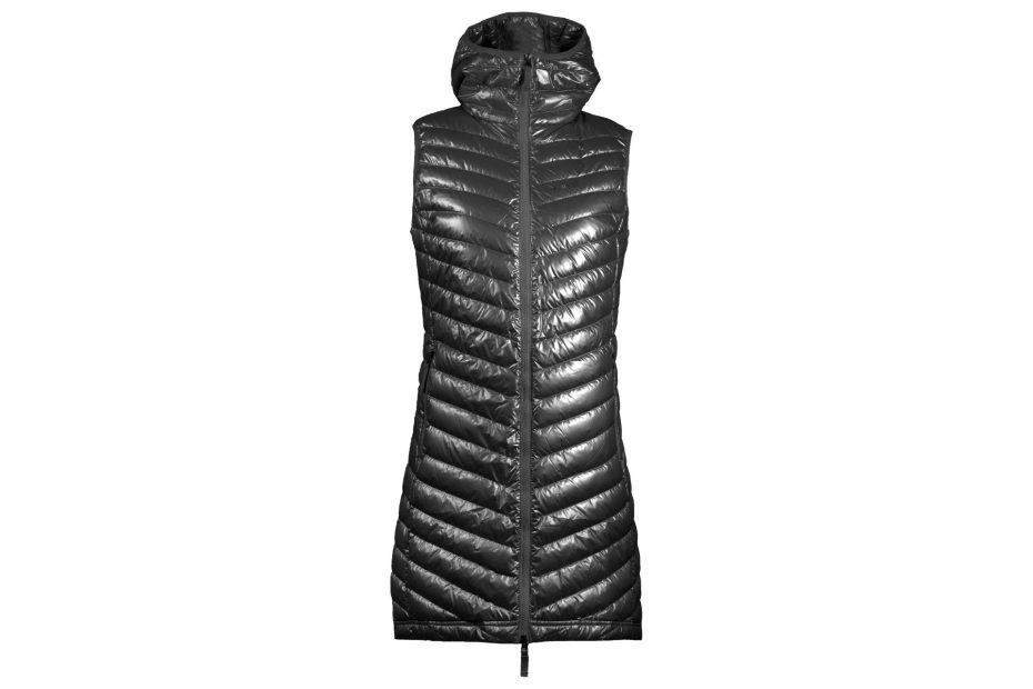Zimní péřová vesta The Osa - metallicgrey