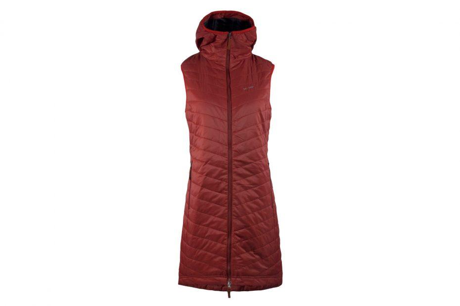 Zimní šatová vesta The Debbie - brickred