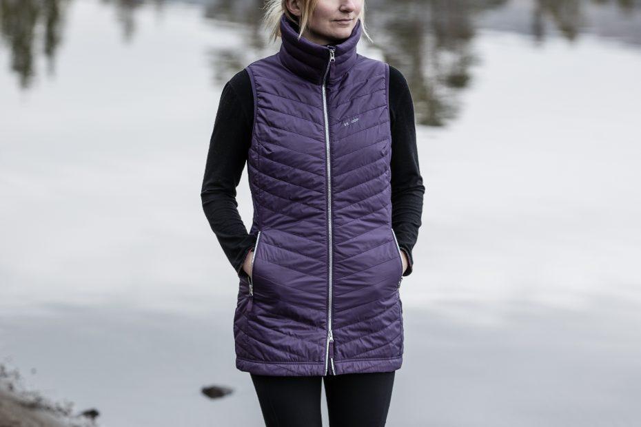 Zimní vesta The Jen - blueberry